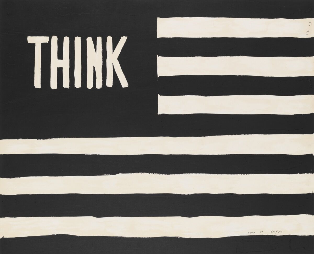 William N. Copley, Untitled (Think/flag), 1967. Whitney Museum of American Art, New York. © William N. Copley Estate / Copley LLC / Artists Rights Society (ARS), New York.