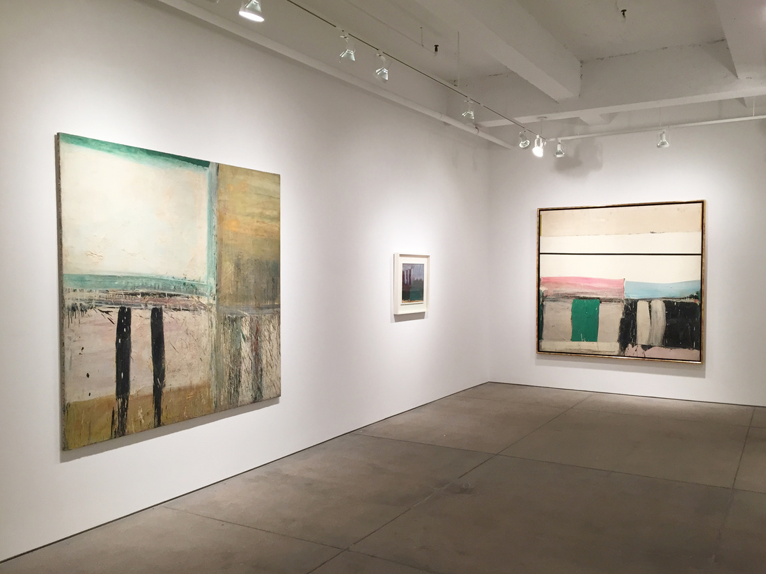 """Installation view of """"Alfred Leslie: Abstraction 1951-1962"""" at Allan Stone Projects, New York. Courtesy Allan Stone Projects and the artist."""