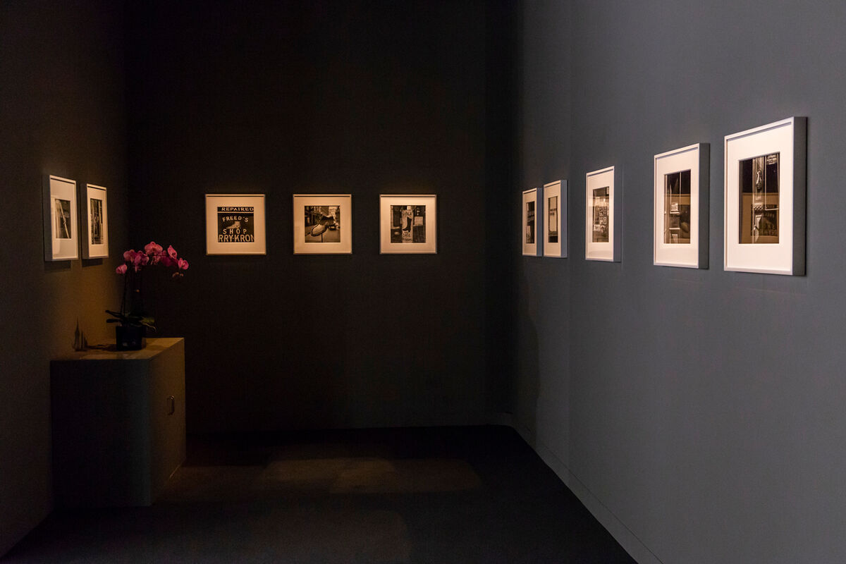 Installation view of work by Irving Penn at Hamiltons Gallery's booth at Art Basel in Basel, 2018. Courtesy of Art Basel.