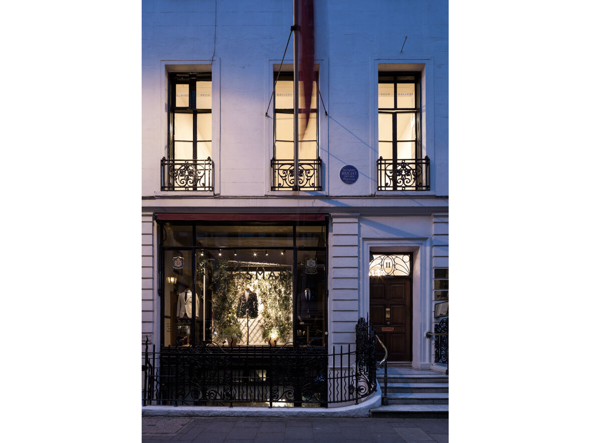 Exterior view of Almine Rech's new Mayfair space. Photo courtesy of the gallery.