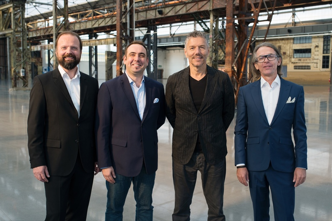 ART DÜSSELDORF new co-owners Walter Gehlen (Founding Director and Partner of ART DÜSSELDORF), Marco Fazzone (Managing Director of Design and Regional Art Fairs, MCH Group), René Kamm (Group Chief Executive Officer (CEO), MCH Group) and Andreas Lohaus (Founding Director and Partner of ART DÜSSELDORF). © Nils vom Lande