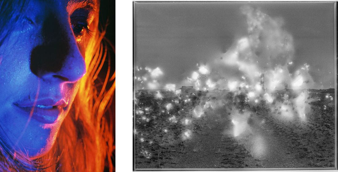 Left:Petra Collins,Untitled (24 Hour Psycho), 2016. Image courtesy of the artist and Ever Gold [Projects]; Right: Julian Charriere,Polygon XXVII, 2016. Image courtesy of DITTRICH & SCHLECHTRIEM, Berlin.