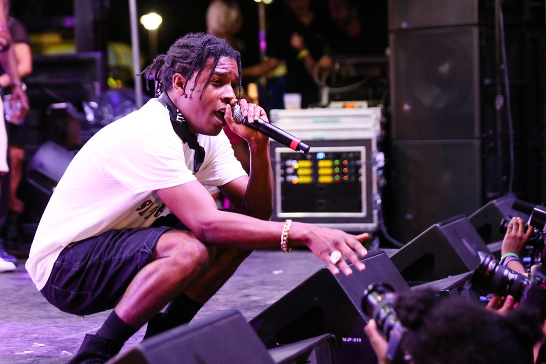 "A$AP Rocky performing at ""No Commision."" Photo © BFA, Angela Pham."