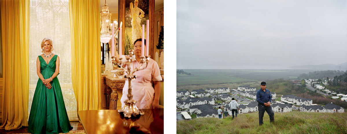 Left: Larry Sultan, Dede Wilsey, 2007. Image courtesy of Casemore Kirkeby; Right: Larry Sultan, Hamilton Field: Homeland Portfolio, 2009. Image courtesy of Casemore Kirkeby.