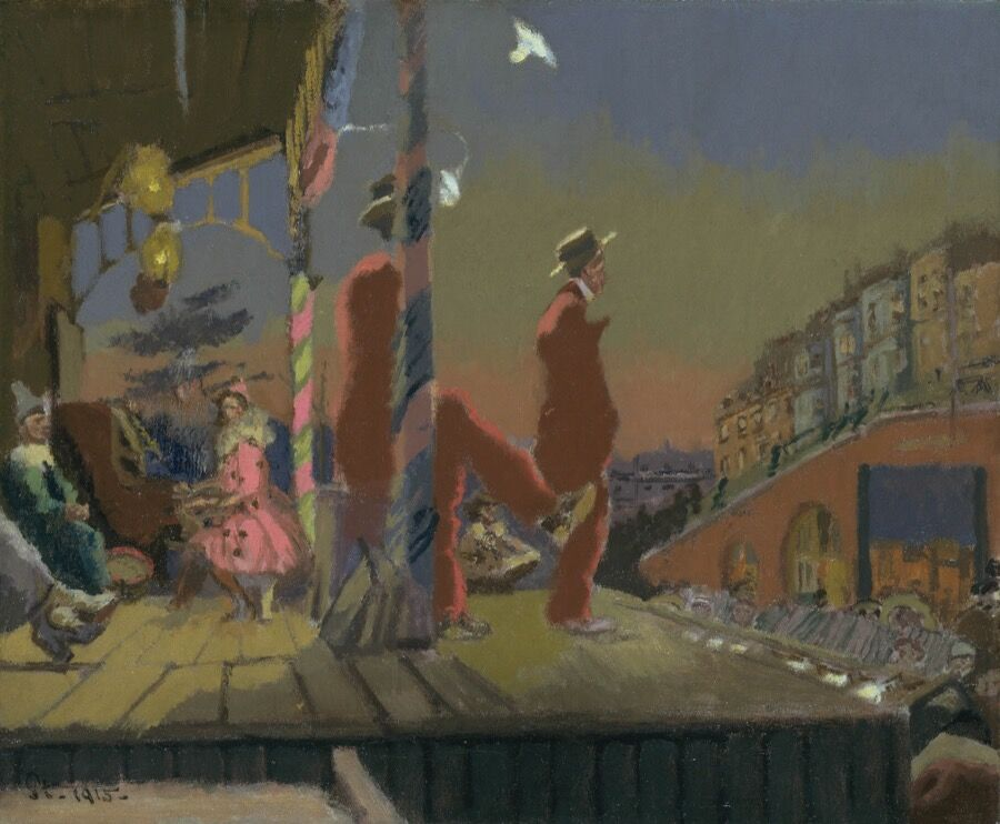 Walter Sickert, Brighton Pierrots (1915). Image courtesy of the Tate.