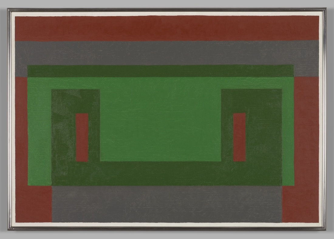 Josef Albers, Leaf-green Wall, 1948. Yale University Art Gallery, Gift of Anni Albers and the Josef Albers Foundation, Inc., 1977.160.11. © 2017 The Josef and Anni Albers Foundation/Artists Rights Society (ARS), New York.