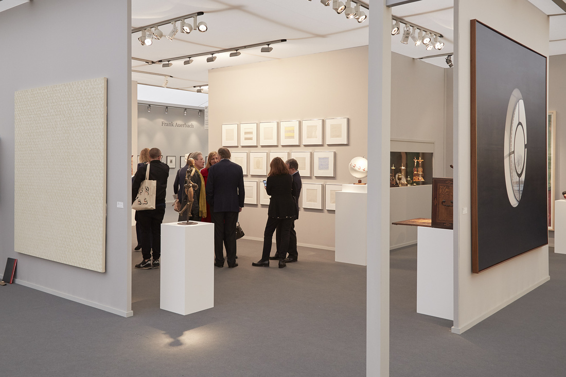 Peter Freeman, Inc. and Kunstkammer Georg Laue's booth at Frieze Masters, 2015. Photo by Benjamin Westoby for Artsy.