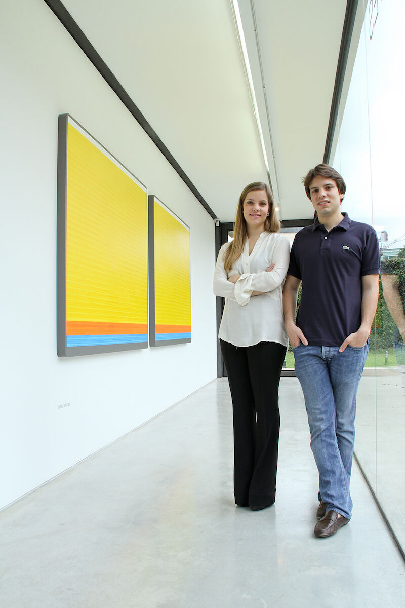 Guilherme S. de Assis and Laura S. de Assis, directors of SIM Galeria. Photo by David Peixoto, courtesy of SIM Galeria.