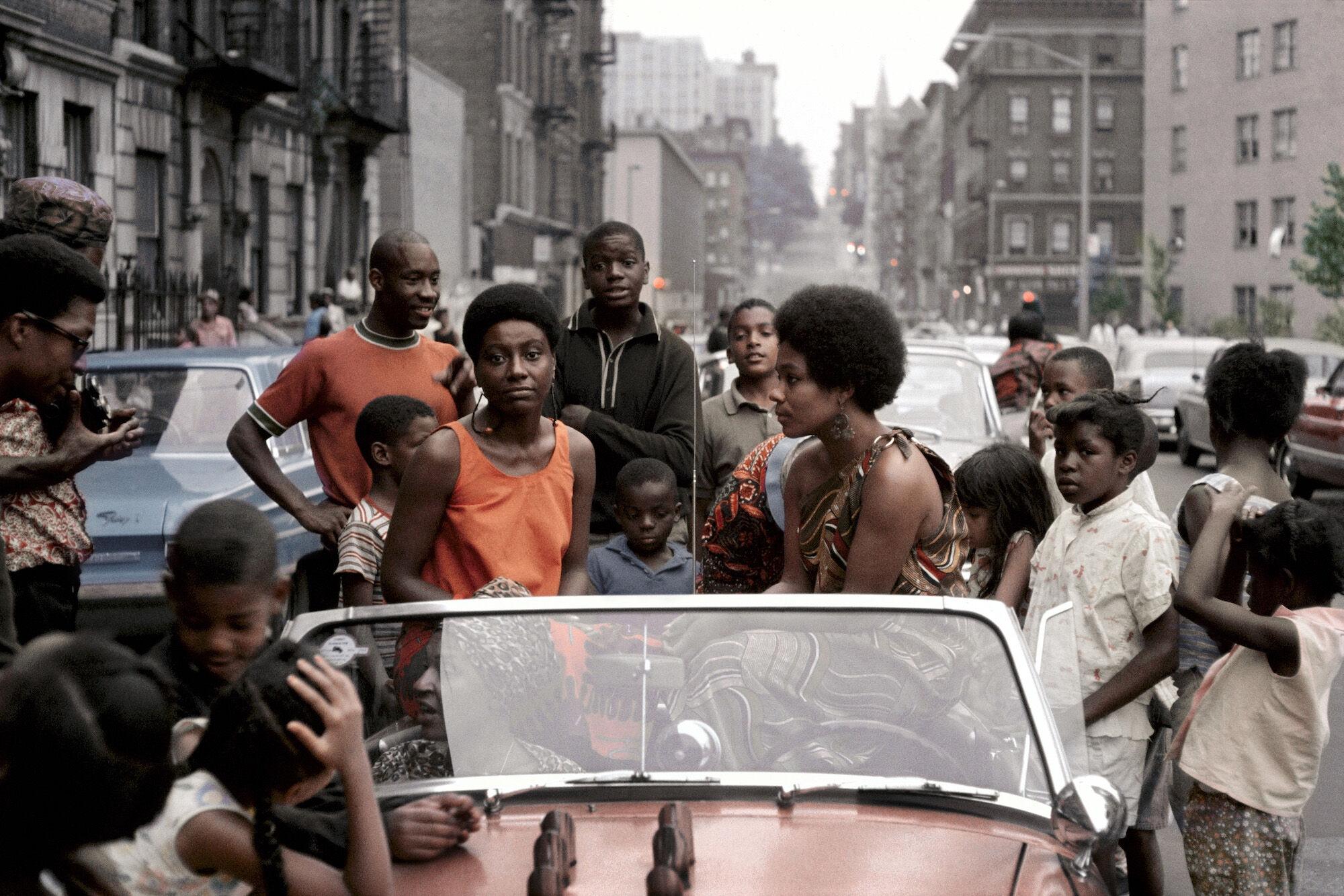 Kwame Brathwaite, Untitled (Garvey Day, Deedee in Car), 1965. Courtesy of Philip Martin Gallery.