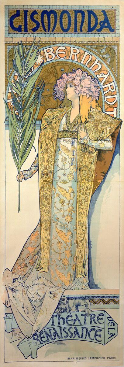 Alphonse Mucha, Gismonda, 1894. © Mucha Trust 2018.