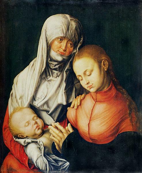 Albrecht Dürer, Virgin and child with St Anna, 1519.