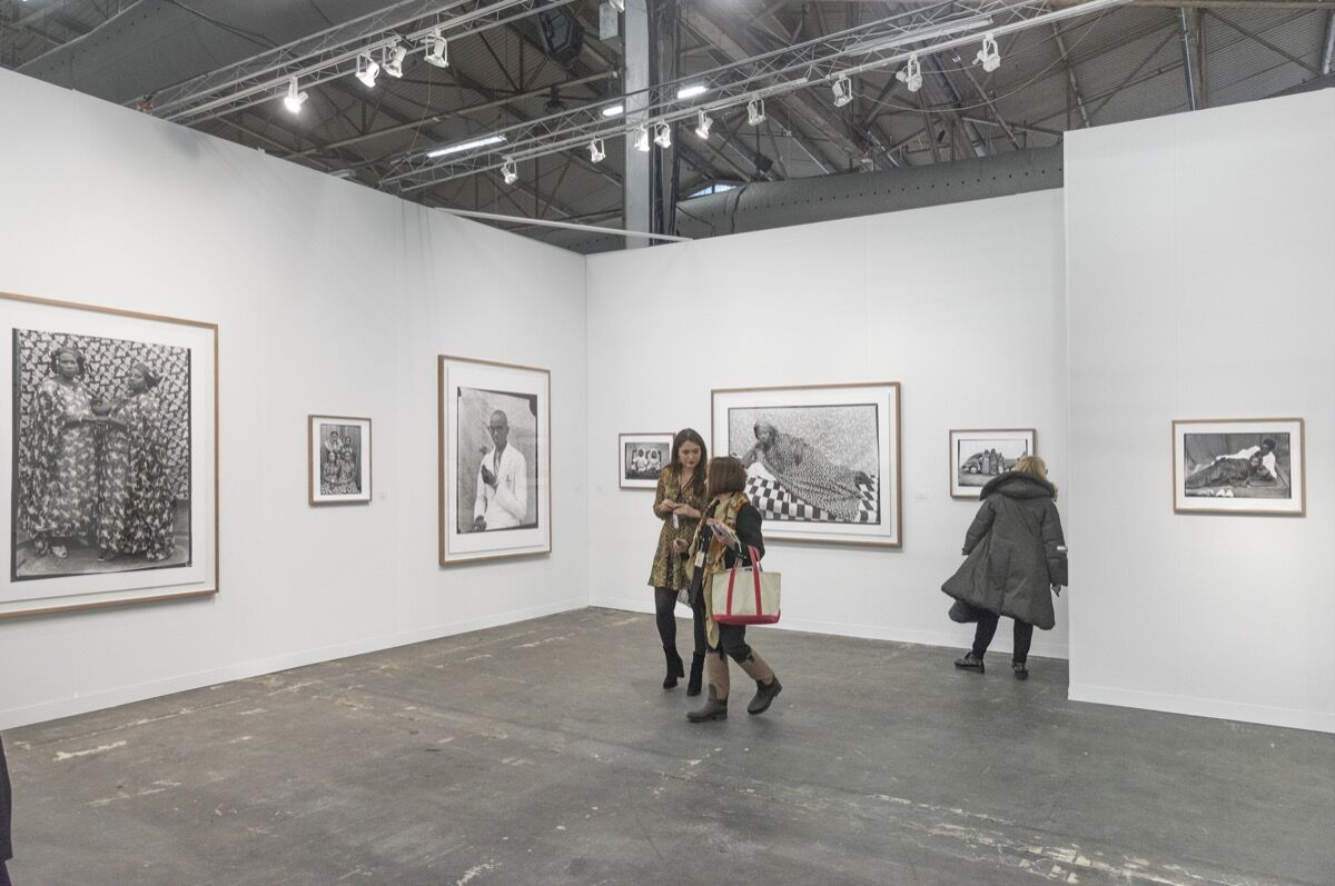 Installation view of Galerie Nathalie Obadia's booth at The Armory Show, 2018. Photo by Adam Reich for Artsy.