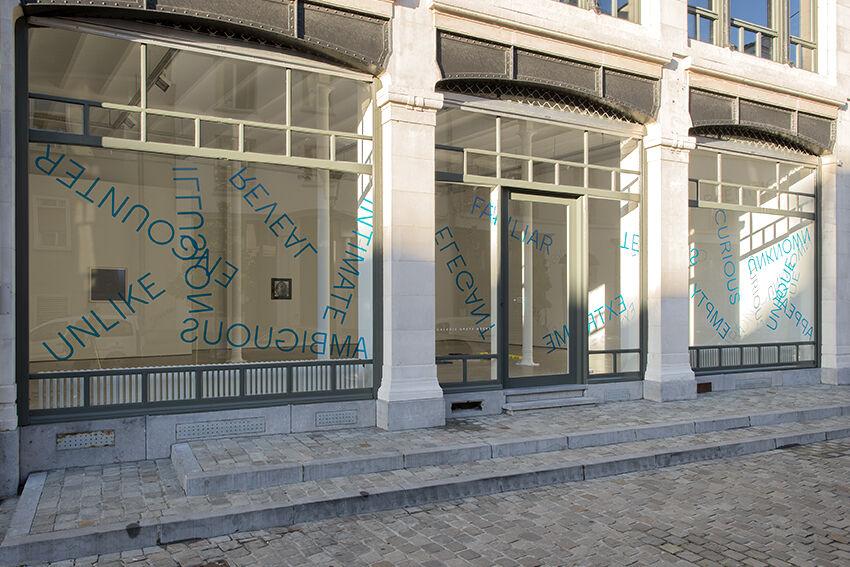 Installation view of Robert Barry at Galerie Greta Meert. CourtesyGalerie Greta Meert and the artist