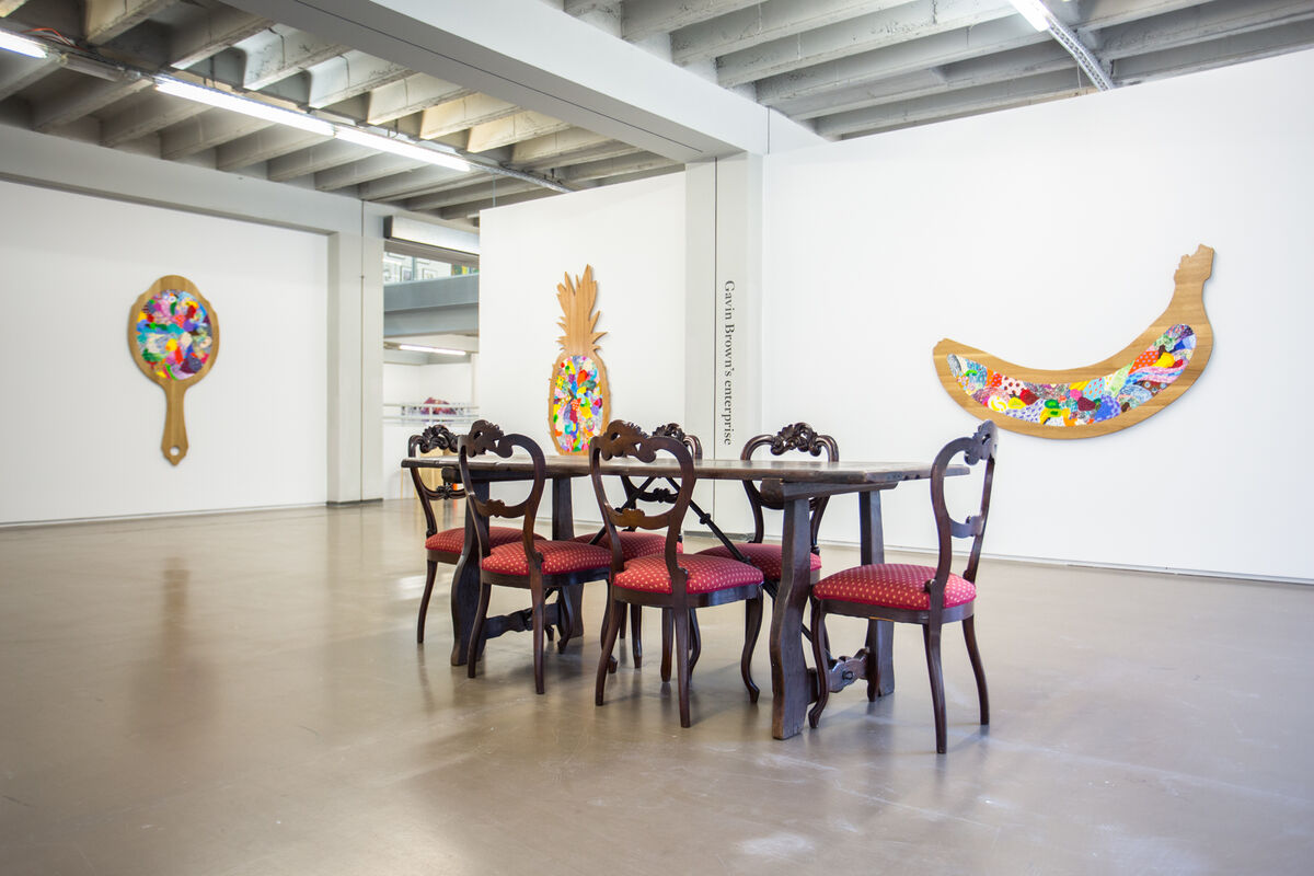 Installation view of Gavin Brown's enterprise's booth at Independent Brussels, 2016. Photo courtesy of Gavin Brown's enterprise.