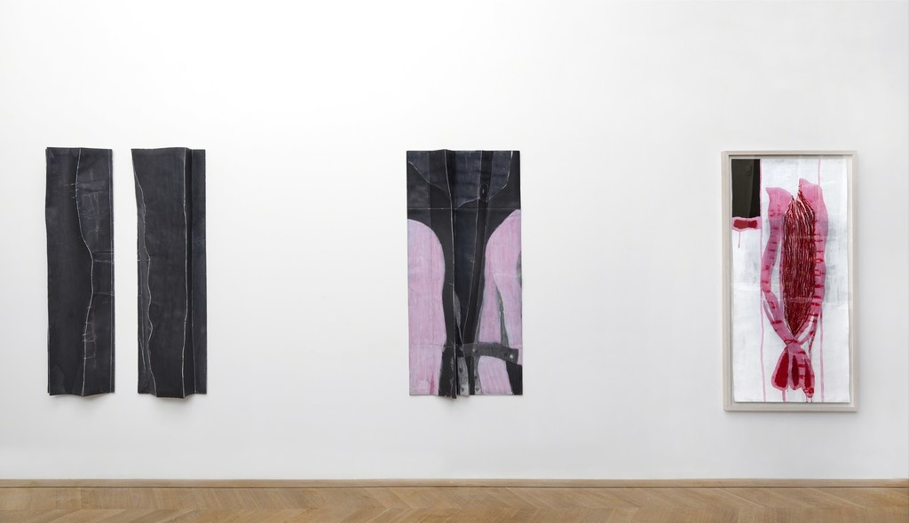 "Works from André de Jong's ""Folds"" series. Image courtesy of the Merchant House."