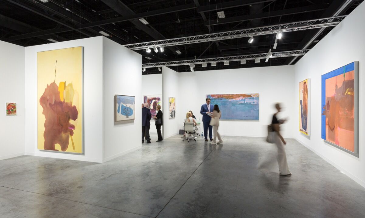 Installation view of Ameringer | McEnery | Yohe's booth at Art Basel in Miami Beach, 2017. Photo by Alain Almiñana for Artsy.
