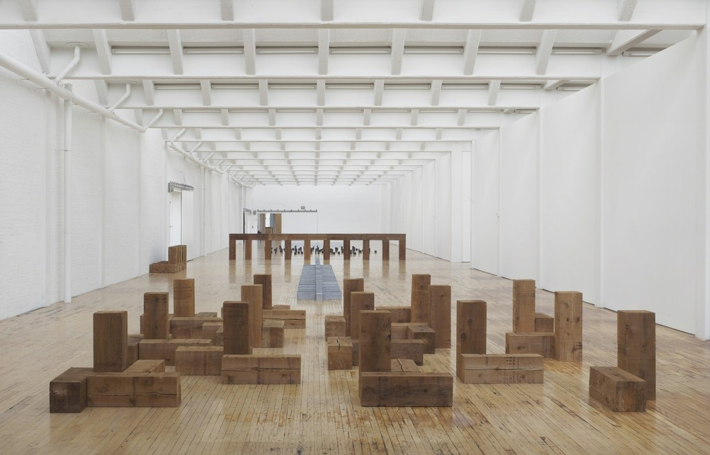 """Installation view of """"Carl Andre: Sculpture as Place, 1958–2010,""""courtesy ofDia Art Foundation, photo byBill Jacobson Studio, New York,© Carl Andre/Licensed by VAGA, New York, NY"""