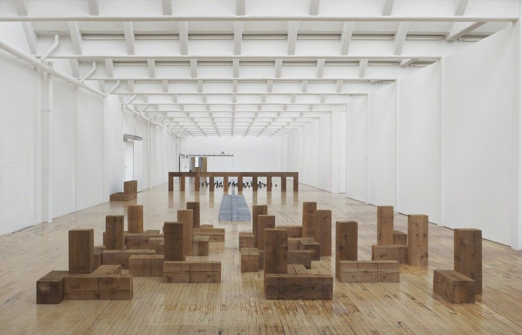 "Installation view of ""Carl Andre: Sculpture as Place, 1958–2010,"" courtesy of Dia Art Foundation, photo by Bill Jacobson Studio, New York, © Carl Andre/Licensed by VAGA, New York, NY"