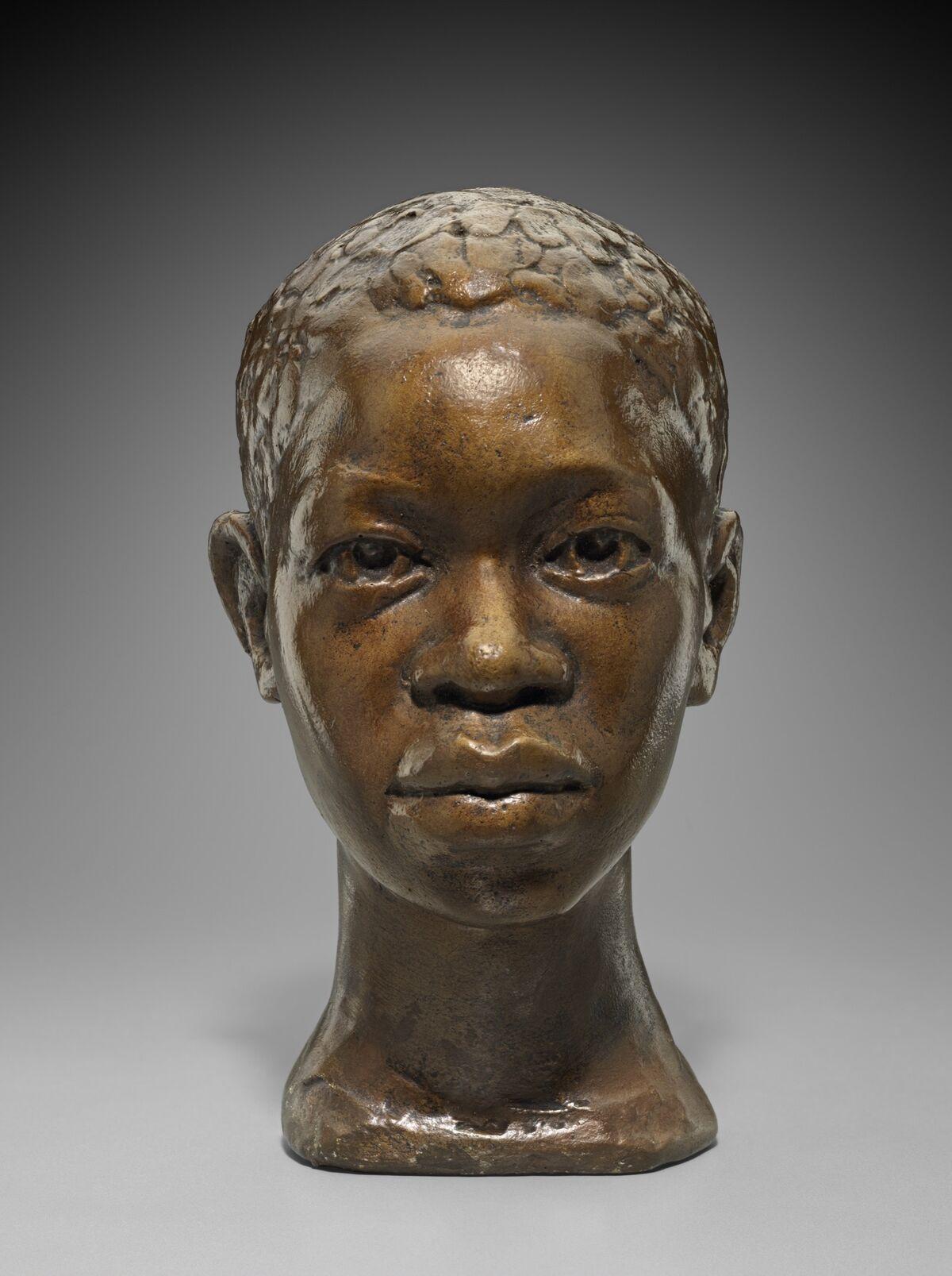 Augusta Savage, Portrait Head of John Henry, c. 1940. Photograph © 2018 Museum of Fine Arts Boston.