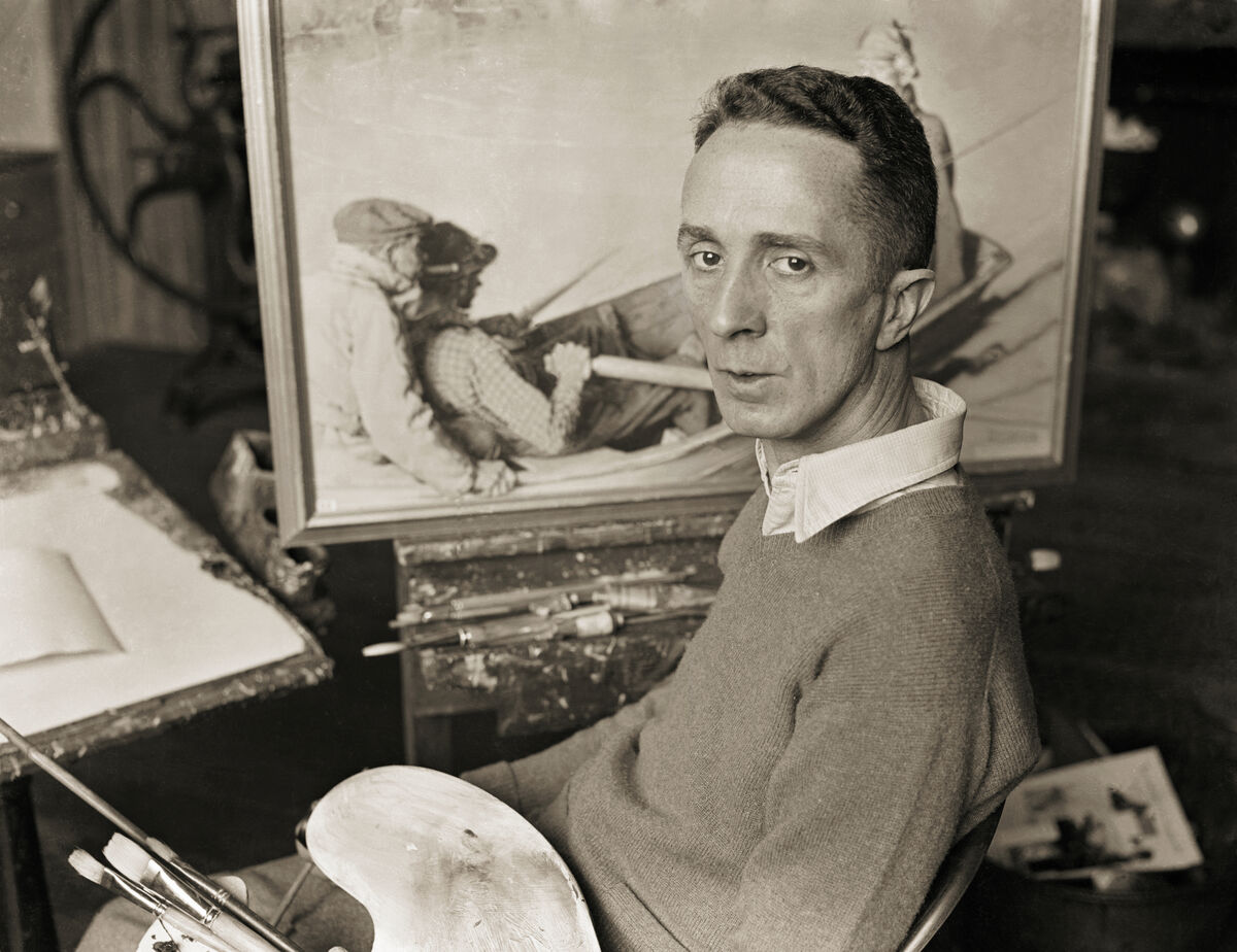 Norman Rockwell. Photo via Bettmann/Getty Images.