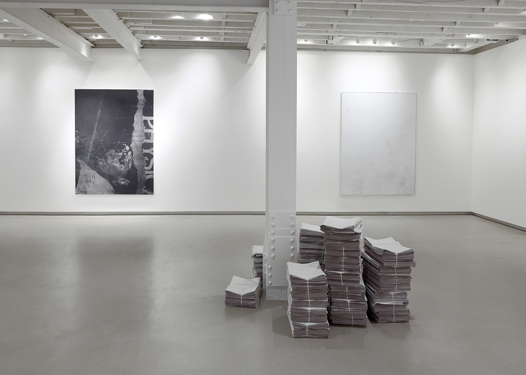 """Installation view of """"Glances Closer to Blindness,"""" courtesy of RH Contemporary Art."""