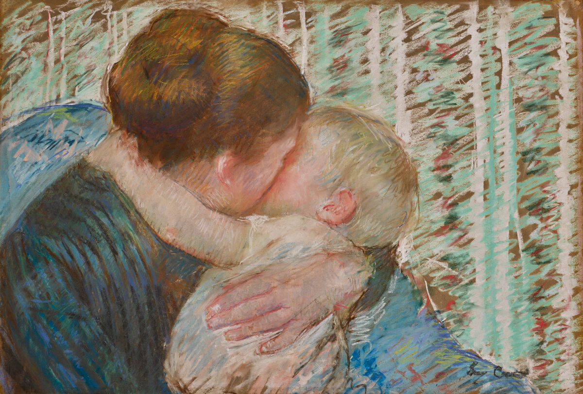 Mary Cassatt, A Goodnight Hug, 1880. Courtesy of Sotheby's.