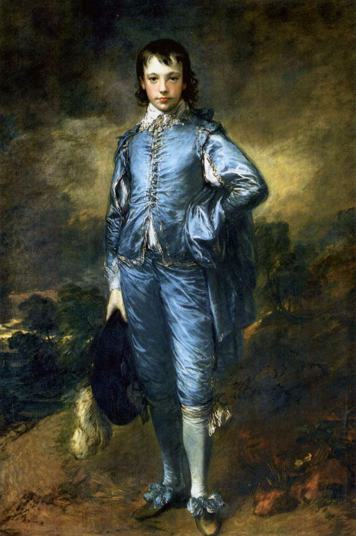 Thomas Gainsborough, The Blue Boy, Portrait of Jonathan Buttall, ca. 1770. Image via Wikimedia Commons.