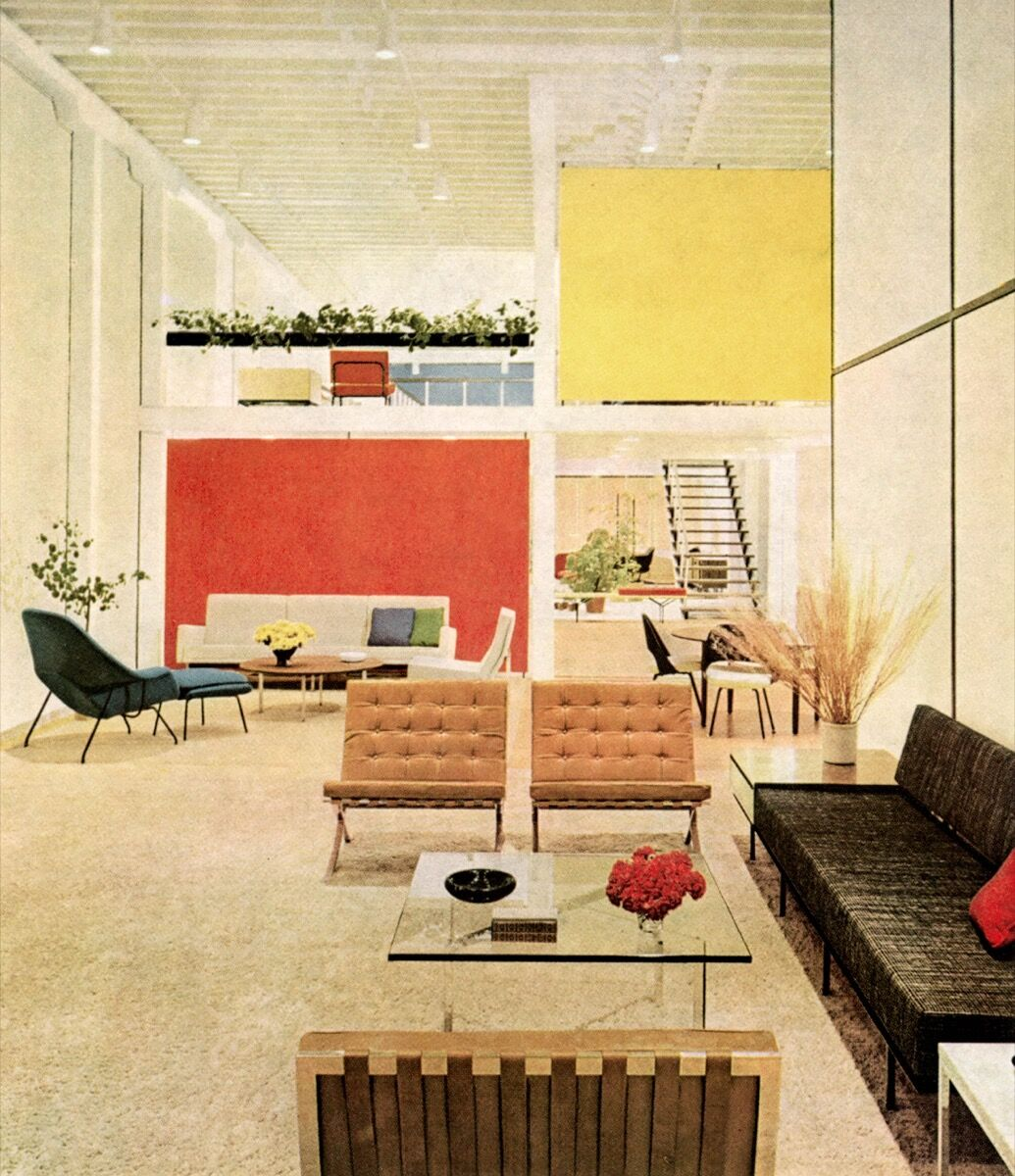 Knoll Showroom in San Francisco, California, 1954. Courtesy of Knoll, Inc.