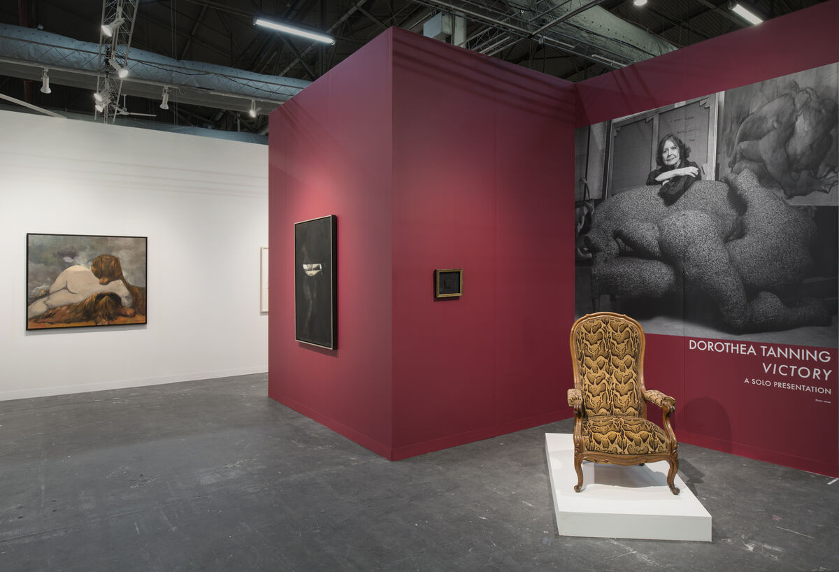 Installation view of Dorothea Tanning's solo presentation at Alison Jacques' booth at The Armory Show, New York, 2019. Courtesy of The Armory Show.