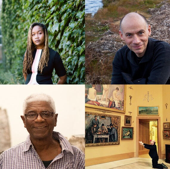 Clockwise from top left: Kim Drew, Blake Gopnik, Jerry Saltz and El Anatsui
