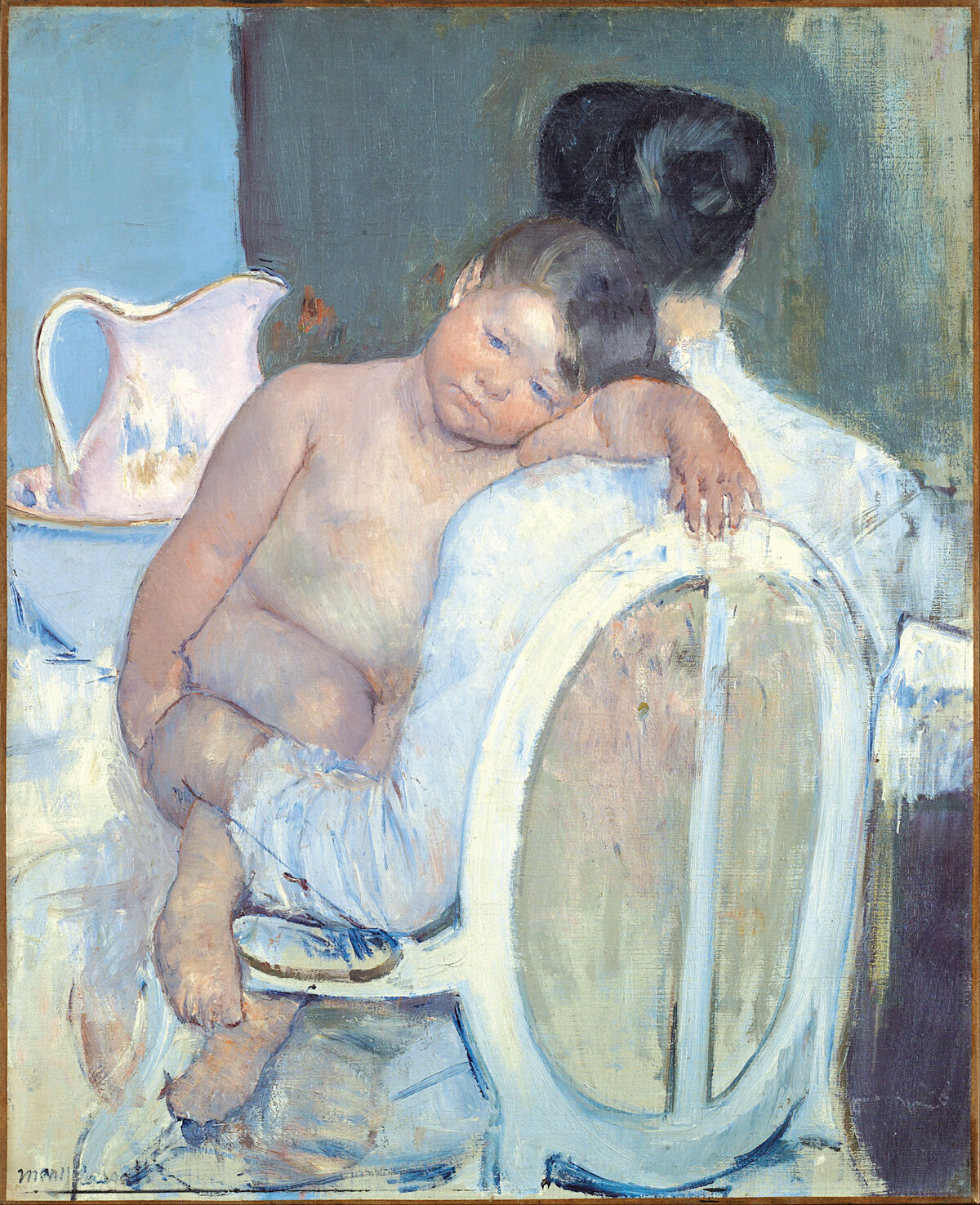 Mary Cassatt, Woman Sitting with a Child in Her Arms, 1890. Image via Wikimedia Commons.