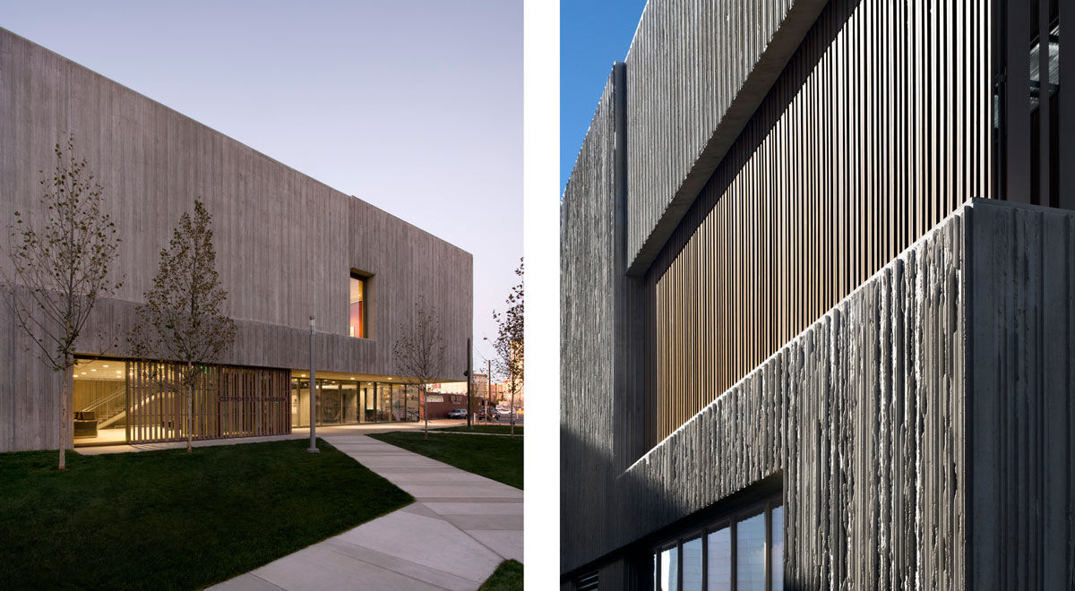 Exterior views of the Clyfford Still Museum. Photography by Raul Garcia. Photo by Raul Garcia, courtesy of the Clyfford Still Museum.