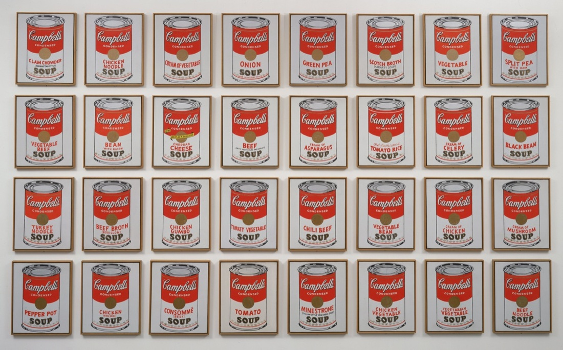 Andy Warhol, Campbell's Soup Cans, 1962. The Museum of Modern Art, New York. © Andy Warhol Foundation/ARS, NY/TM Licensed by Campbell's Soup Co.