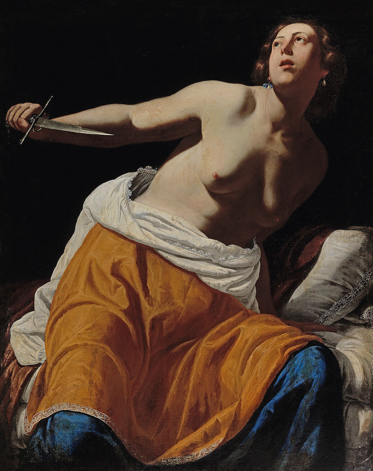 Artemisia Gentileschi, Lucretia, oil on canvas. Image courtesy and © Dorotheum.
