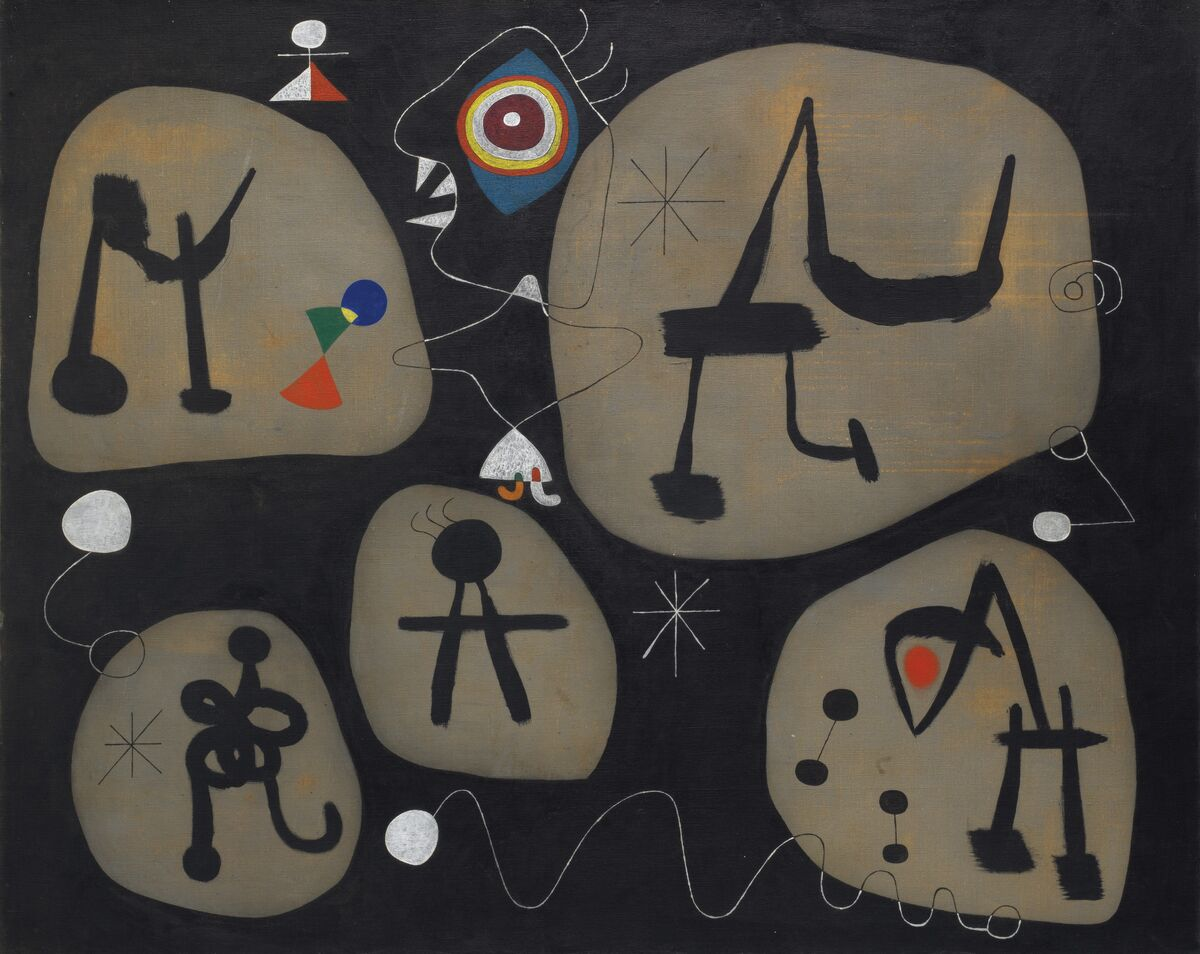 Joan Miró, Femme entendant de la musique, 1945. Courtesy of Christie's.