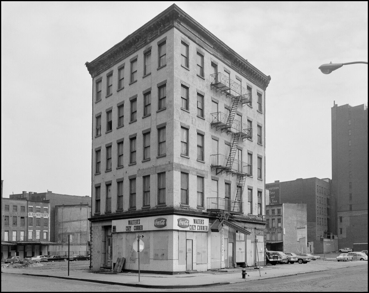 Danny Lyon, 79 Park Place, from the series The Destruction of Lower Manhattan, 1967. Courtesy the artist and Magnum Photos. © Danny Lyon / Magnum Photos. Image courtesy of Grey Art Gallery.