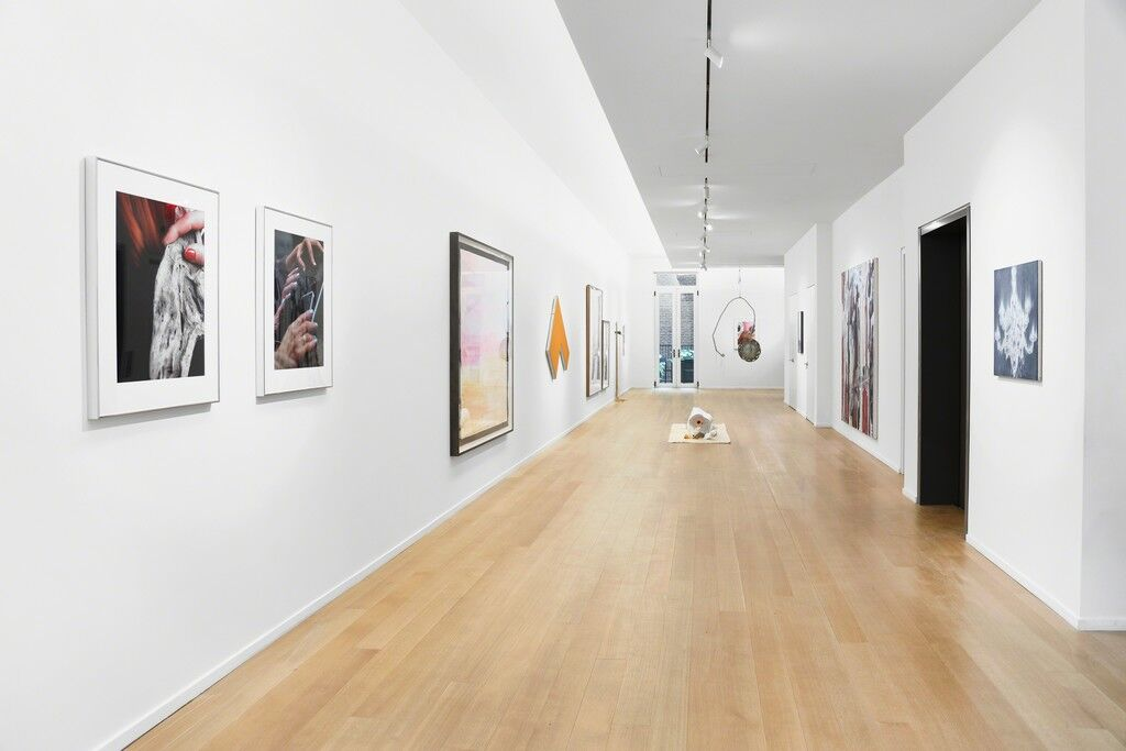 """Installation view of """"The Tissue of Memory"""" at Simon Lee, New York, 2018. Courtesy of Simon Lee."""