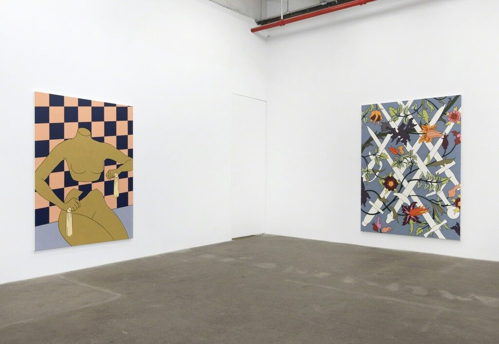"Installation view of ""Caitlin Keogh: Loose Ankles"" at Bortolami. Photo courtesy of Bortolami."