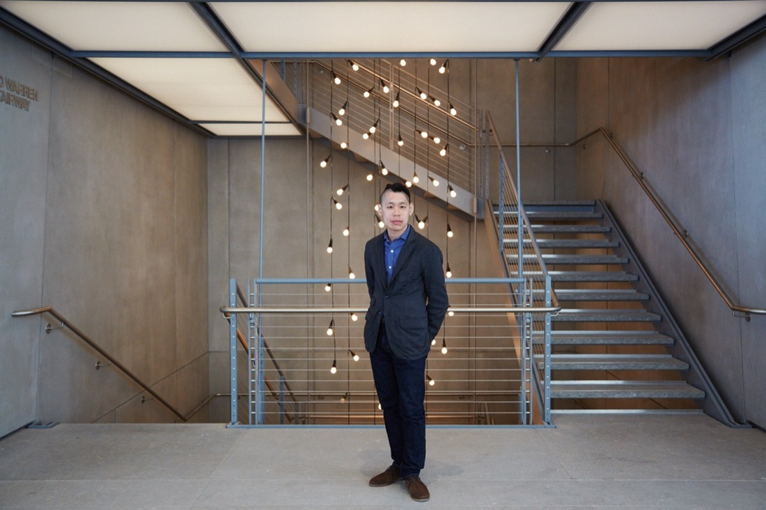 Portrait of Christopher Y. Lew at the Whitney Museum of American Art by Emily Johnston for Artsy.