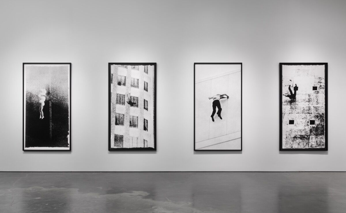 "Installation view of ""Sarah Charlesworth: Doubleworld,"" 2015. Photo by Maris Hutchinson / EPW Studio."