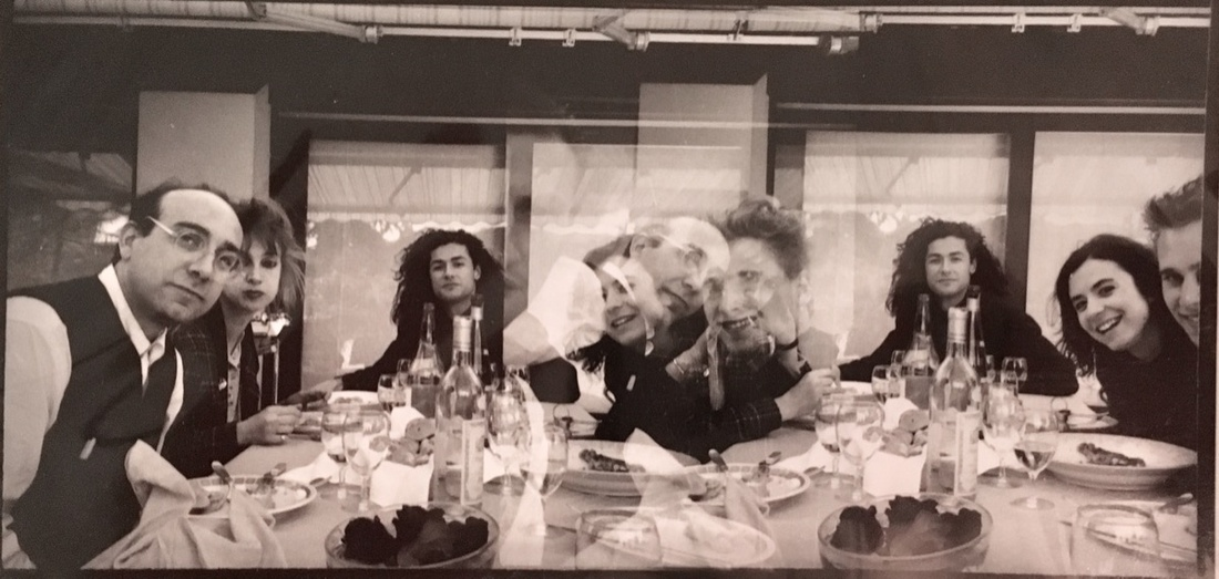 Starving Artists banquet in Italy, hosted by Paul Lamarre and Melissa Wolf. Courtesy of Arthur Fournier.