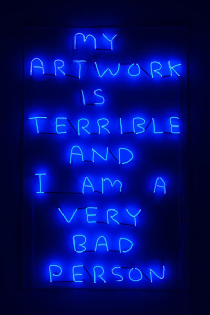 Exhibit 2: David Shrigley, My Artwork (blue), 2018. Courtesy of the artist and Stephen Friedman Gallery.