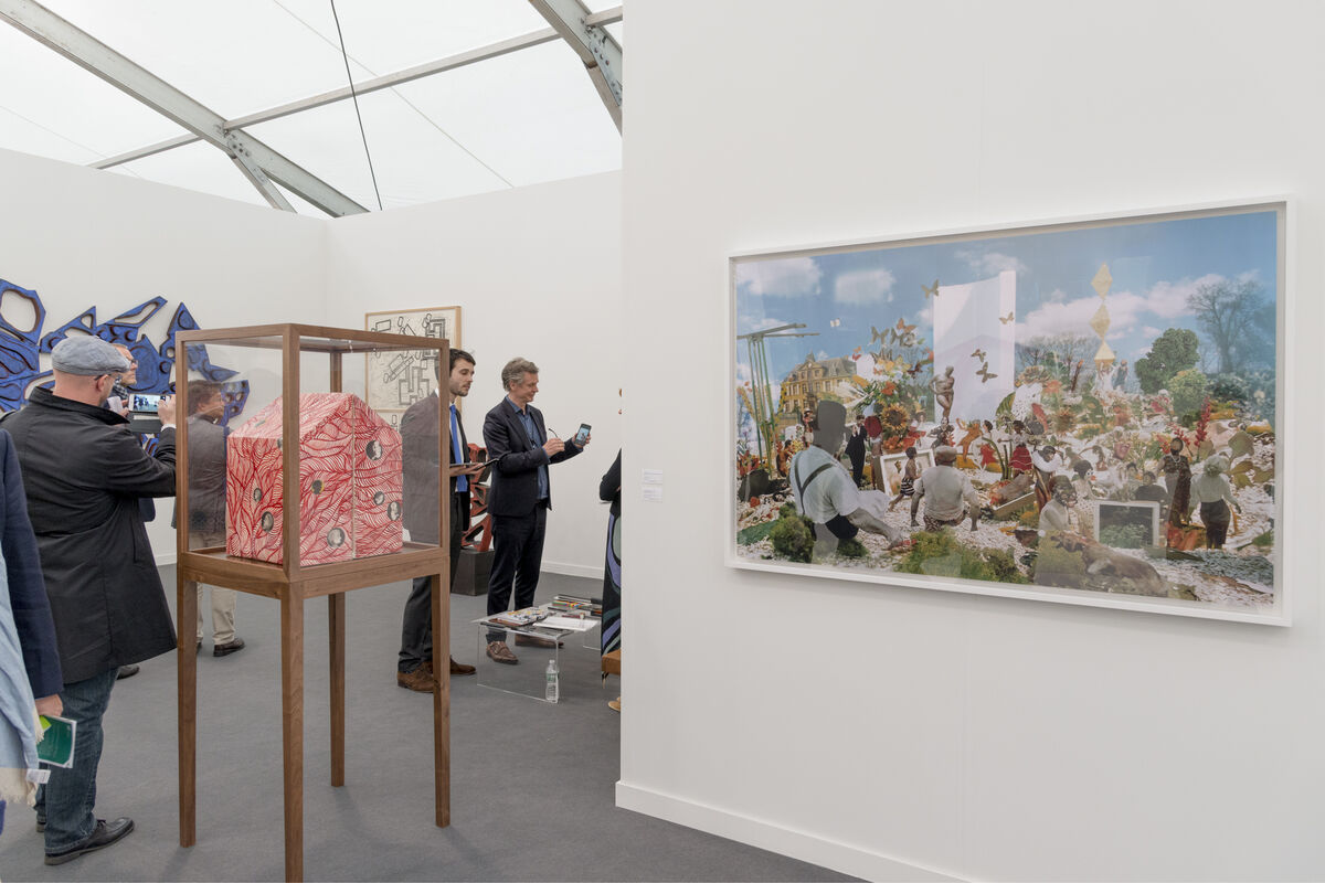 Installation view of David Nolan Gallery's booth at Frieze New York, 2016. Photo by Adam Reich for Artsy.