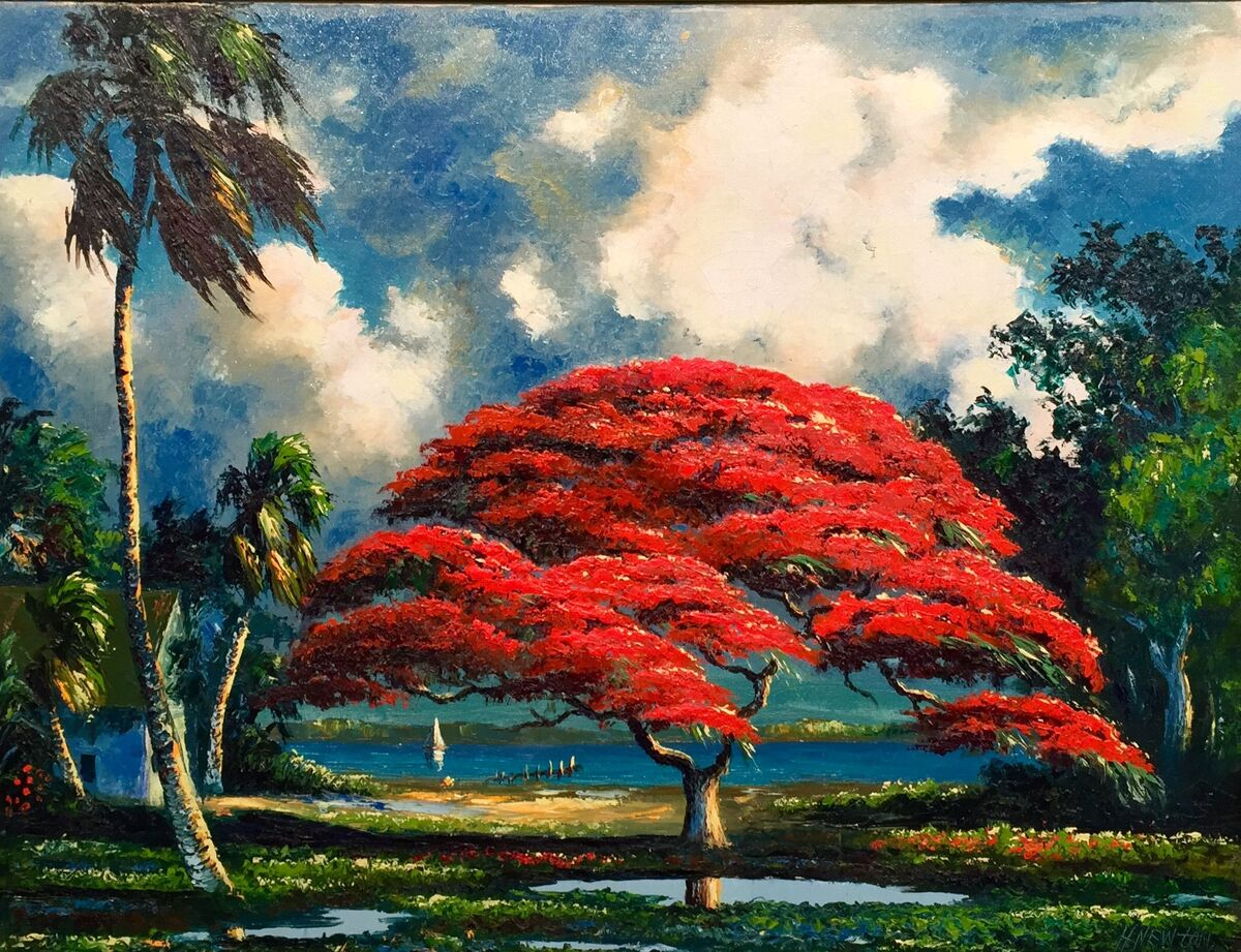 Harold Newton, Poinciana, undated. Collection of Roger Lightle. Image courtesy of A.E. Backus Museum.