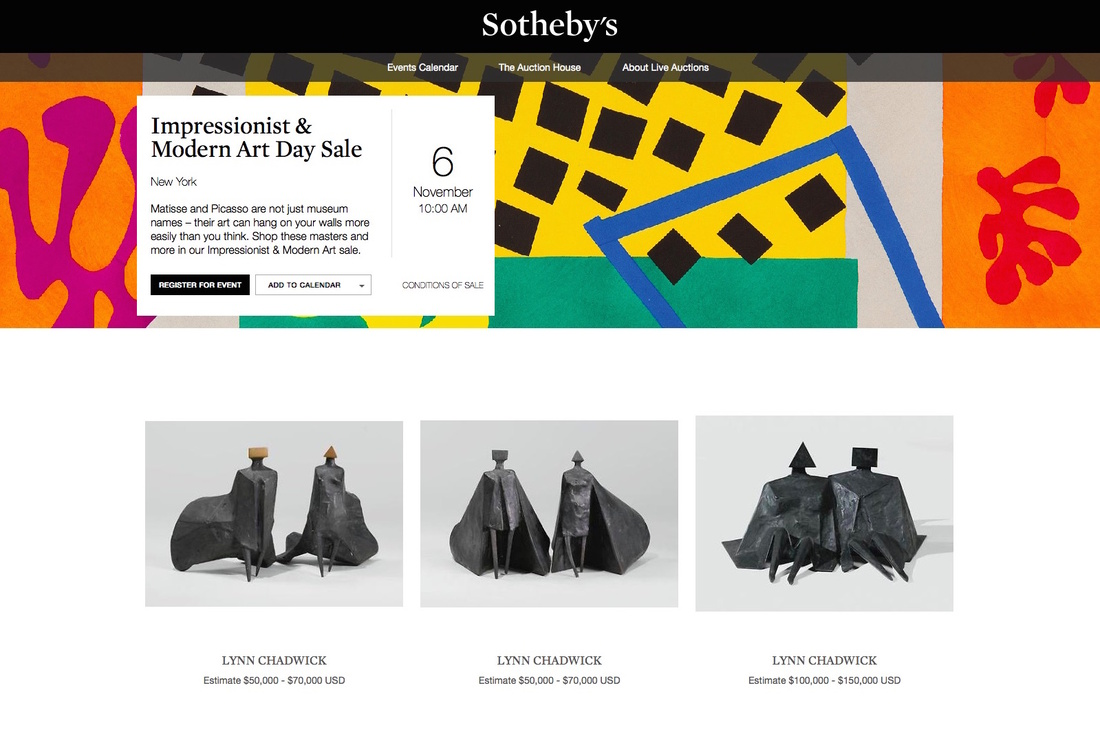 A recent sale hosted by Sotheby's on ebay.com.