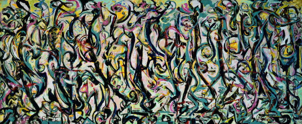 Jackson Pollock, Mural, 1943. Gift of Peggy Guggenheim, 1959. University of Iowa Museum of Art. Reproduced with permission from The University of Iowa.