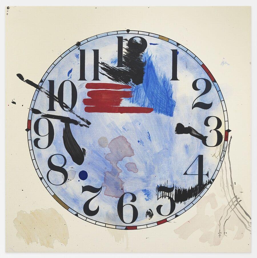 Amanda Ross-Ho, Untitled Timepiece (HEAVY THREAD/PRIMITIVE TOOL), 2017. © Amanda Ross-Ho. Courtesy of the artist and Mitchell-Innes & Nash, NY.