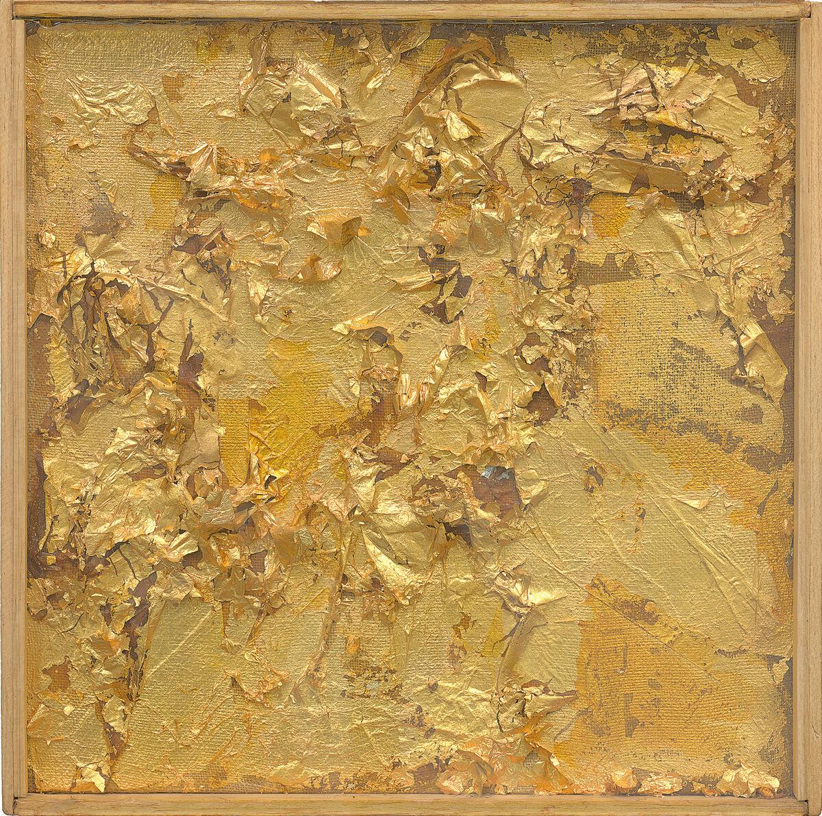 Robert Rauschenberg, Untitled (Gold Painting), ca. 1953. © 2017 Robert Rauschenberg Foundation. Courtesy of the Museum of Modern Art.