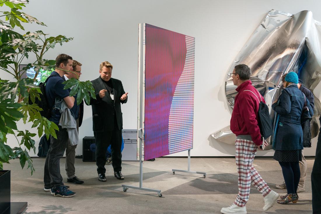 Installation view of DITTRICH & SCHLECHTRIEM's booth at Art Berlin. Photo by Stefan Korte. Courtesy of Art Berlin.