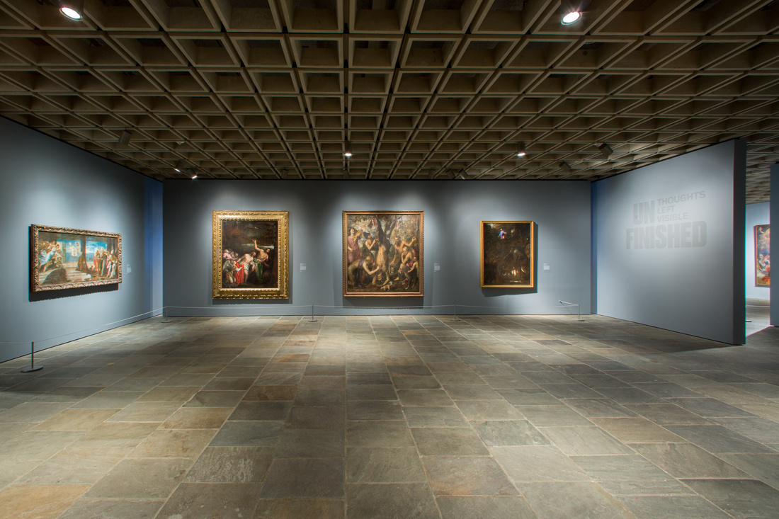 """Installation view of """"Unfinished: Thoughts Left Visible"""" at the Met Breuer. Photo © The Metropolitan Museum of Art 2016."""